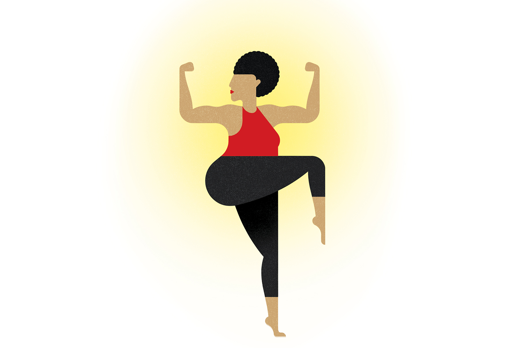 Illustration: woman exercising
