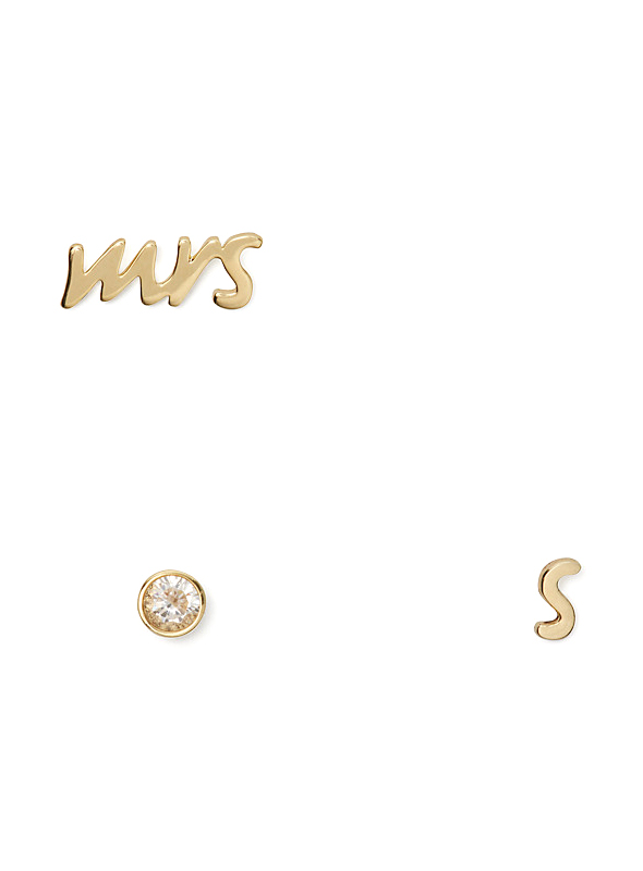 Mrs. Initial Stud Set