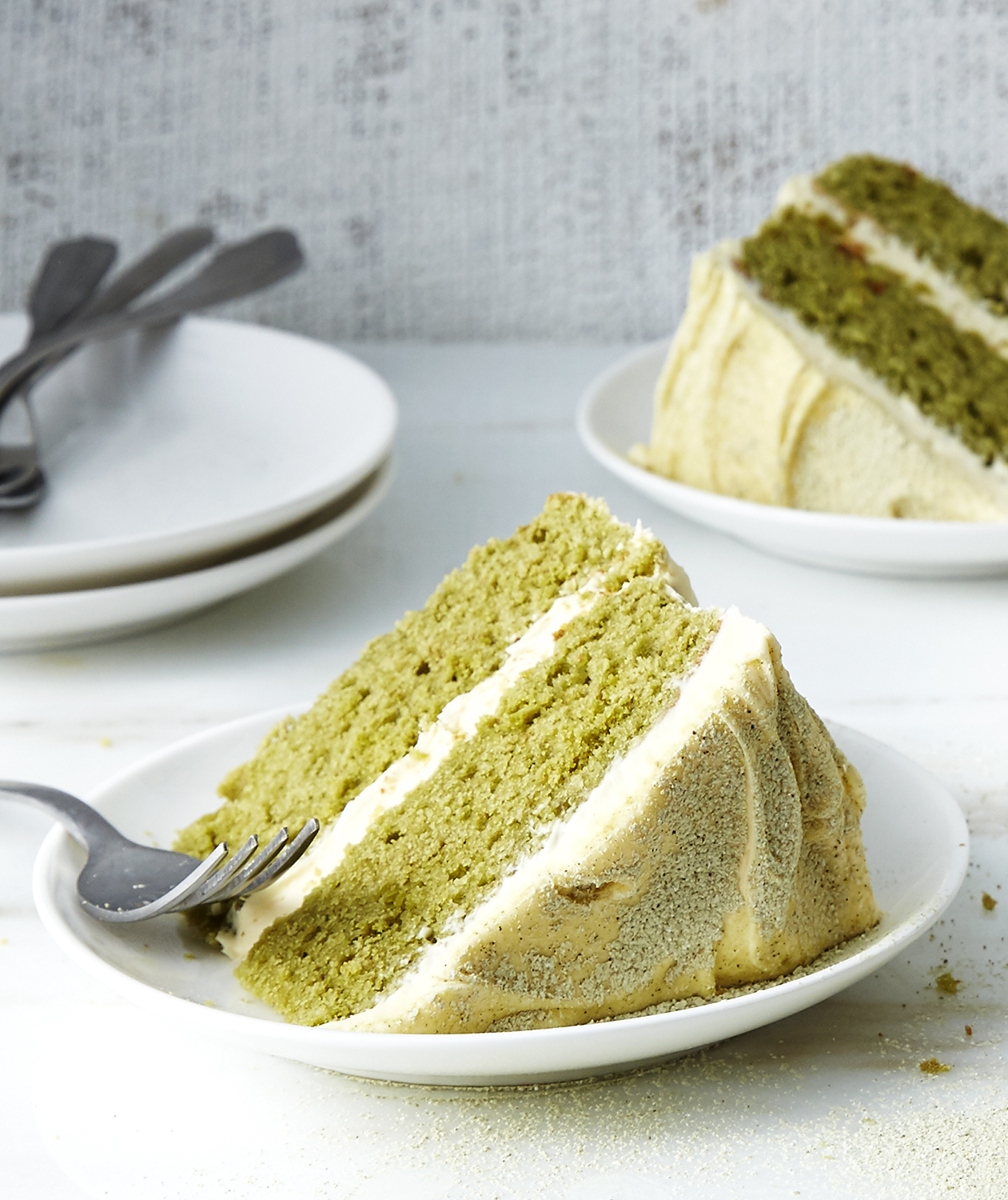 Matcha Layercake with Vanilla Buttercream Frosting