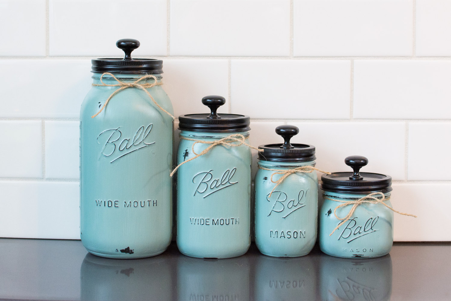 Mason jar Kitchen Canisters