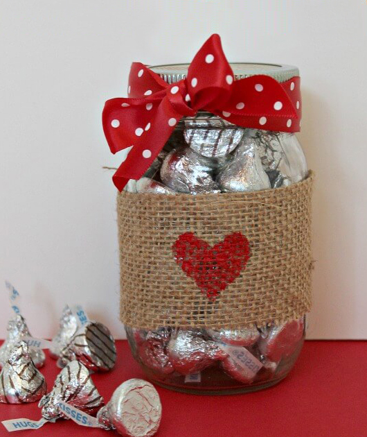 Mason Jar of Kisses
