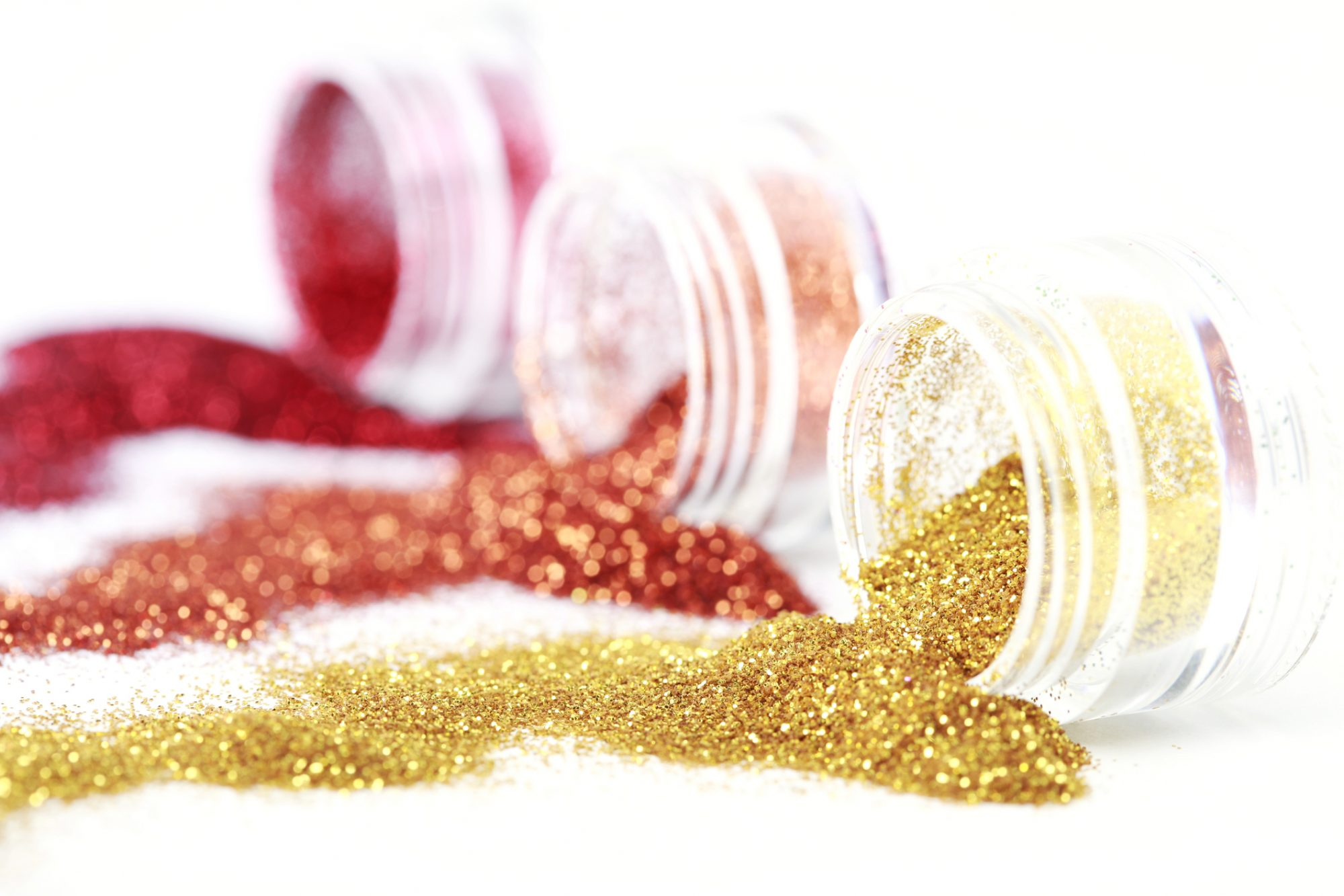 Colorful spilled glitter