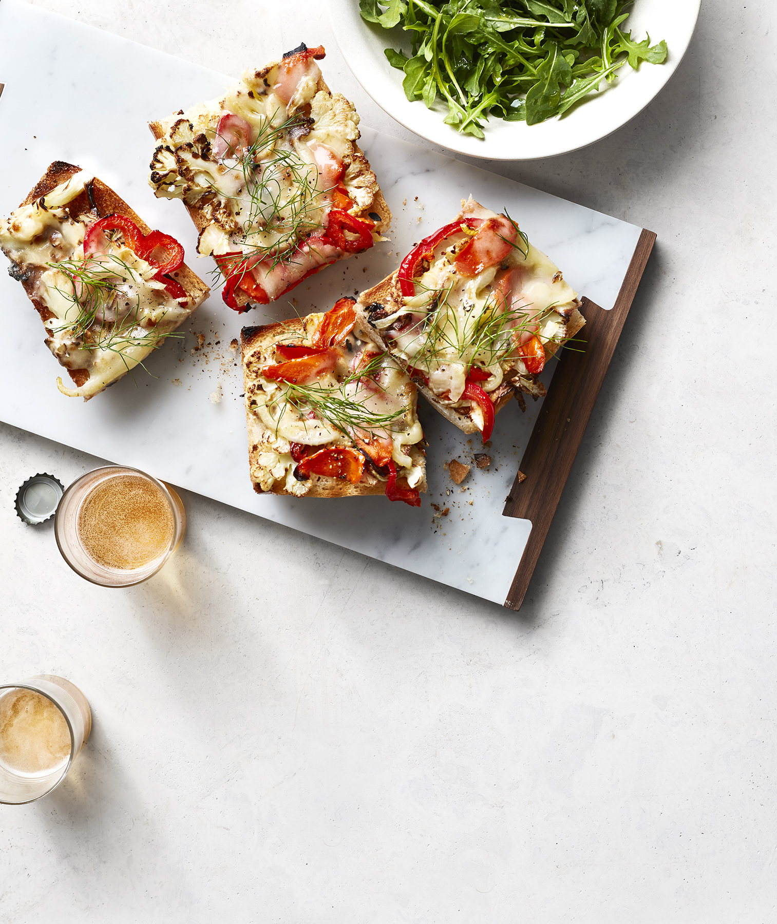 Open-Faced Roasted Veggie Sandwiches