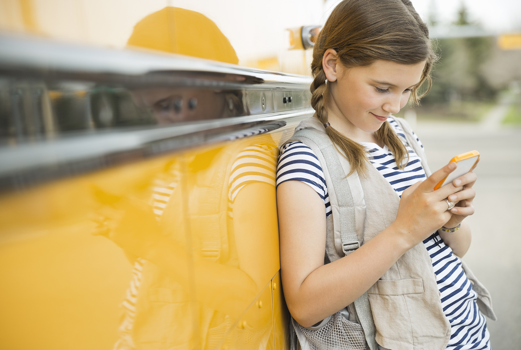 Young girl with smartphone