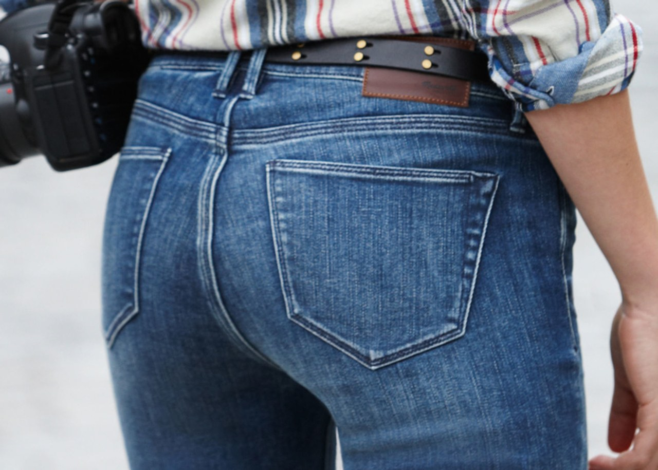 Madewell Jeans from behind