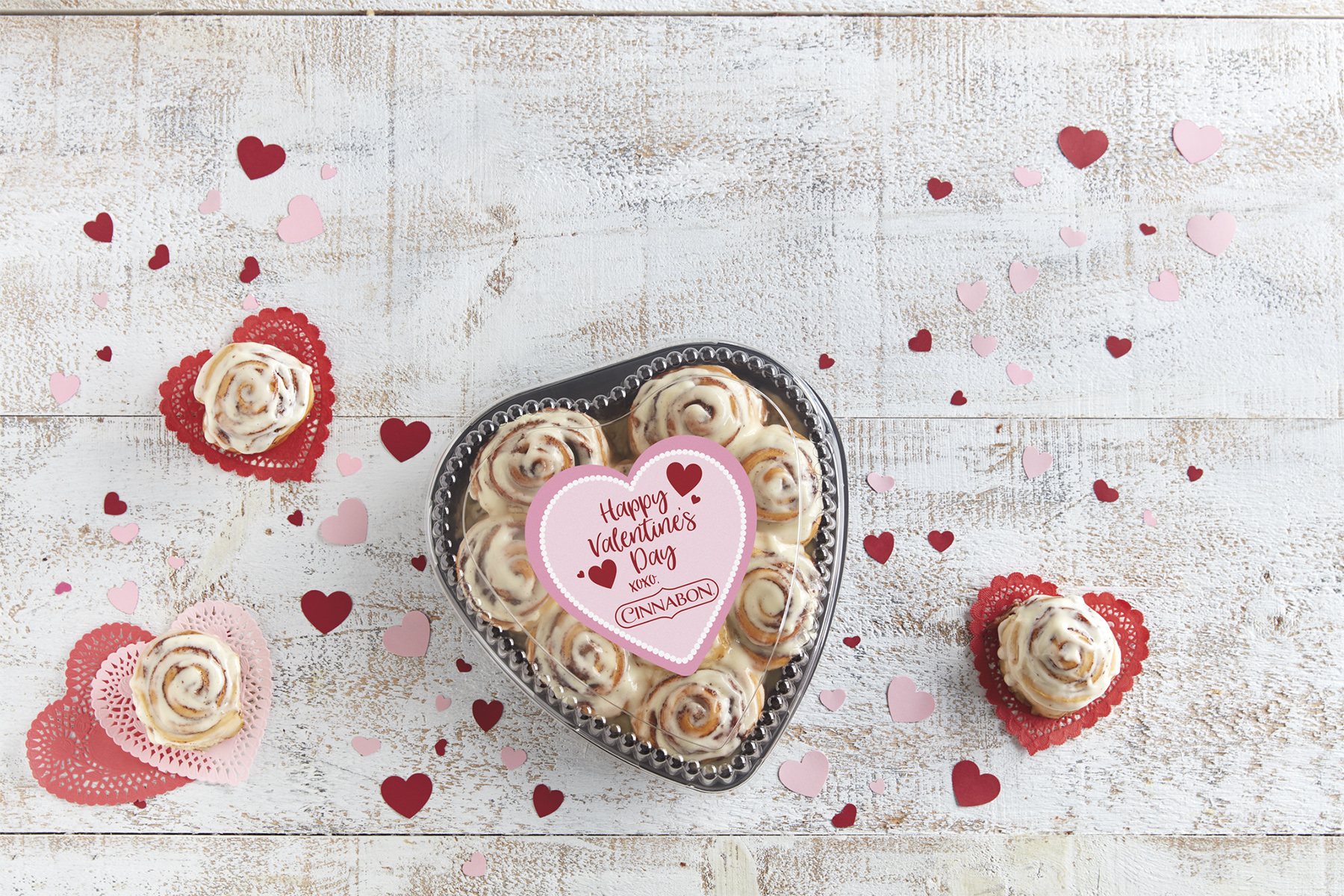 Cinnabon to Deliver Heart-Shaped Boxes of Cinnamon Rolls on Valentine's Day