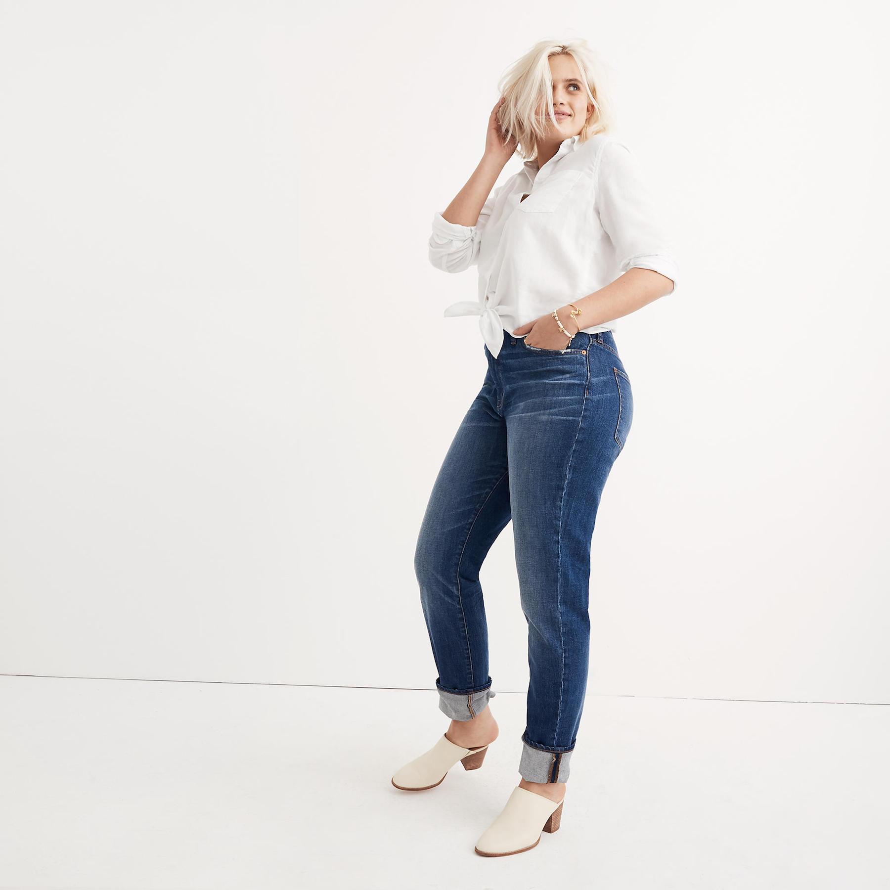 Madewell curvy jeans on model