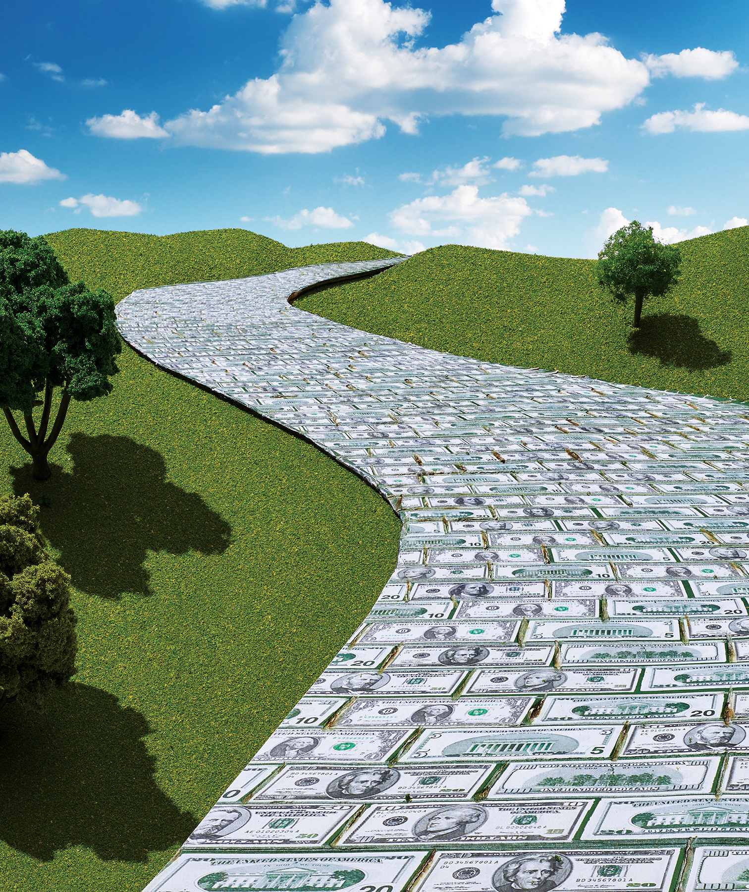 Road made of money