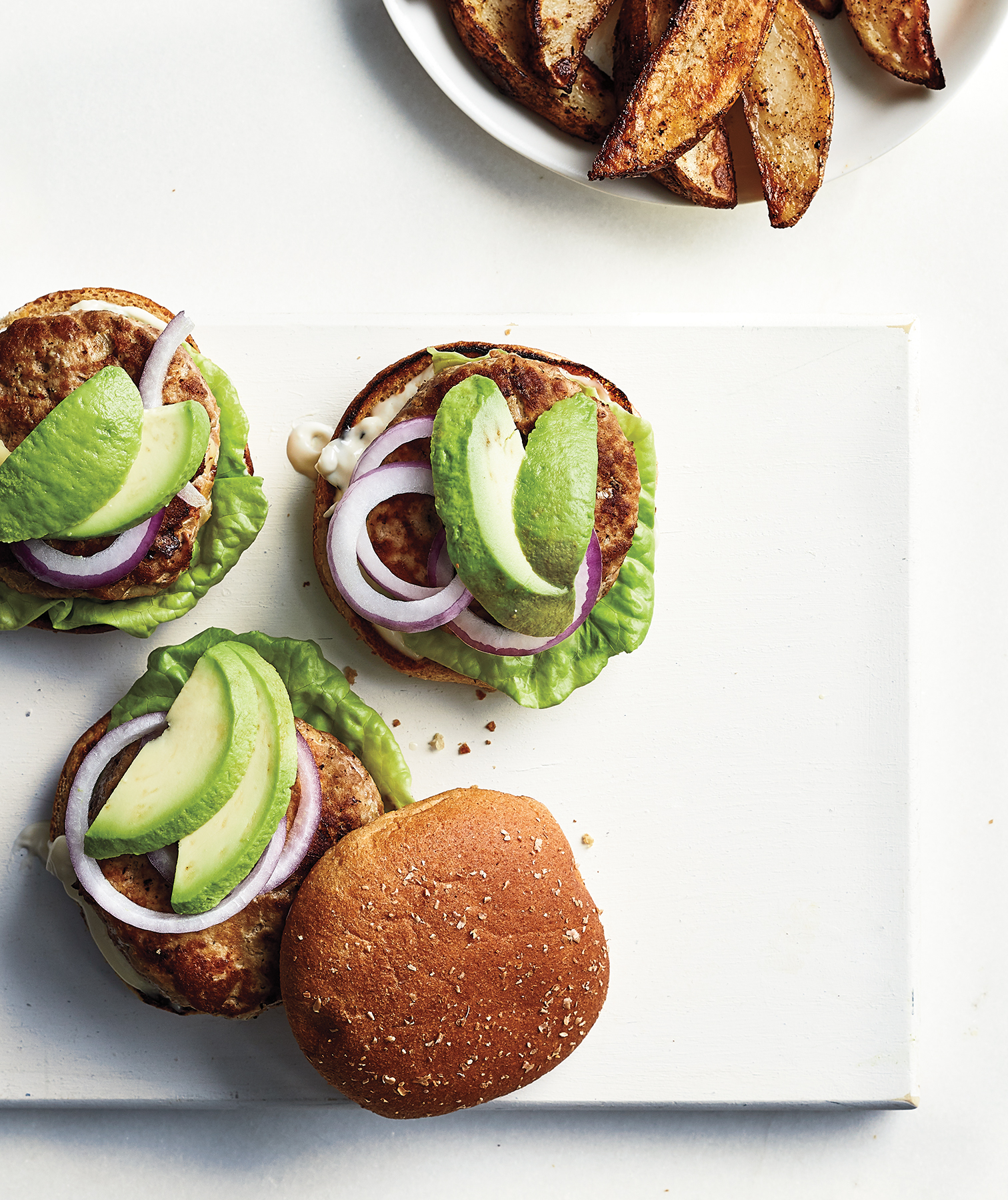Turkey Burgers With Lime Mayo and Avocado