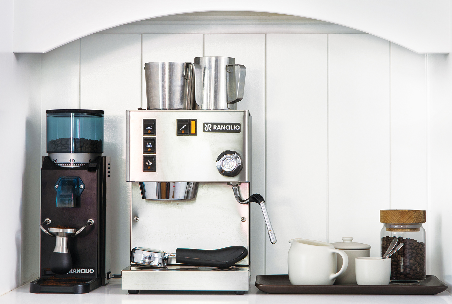 Coffee station in kitchen