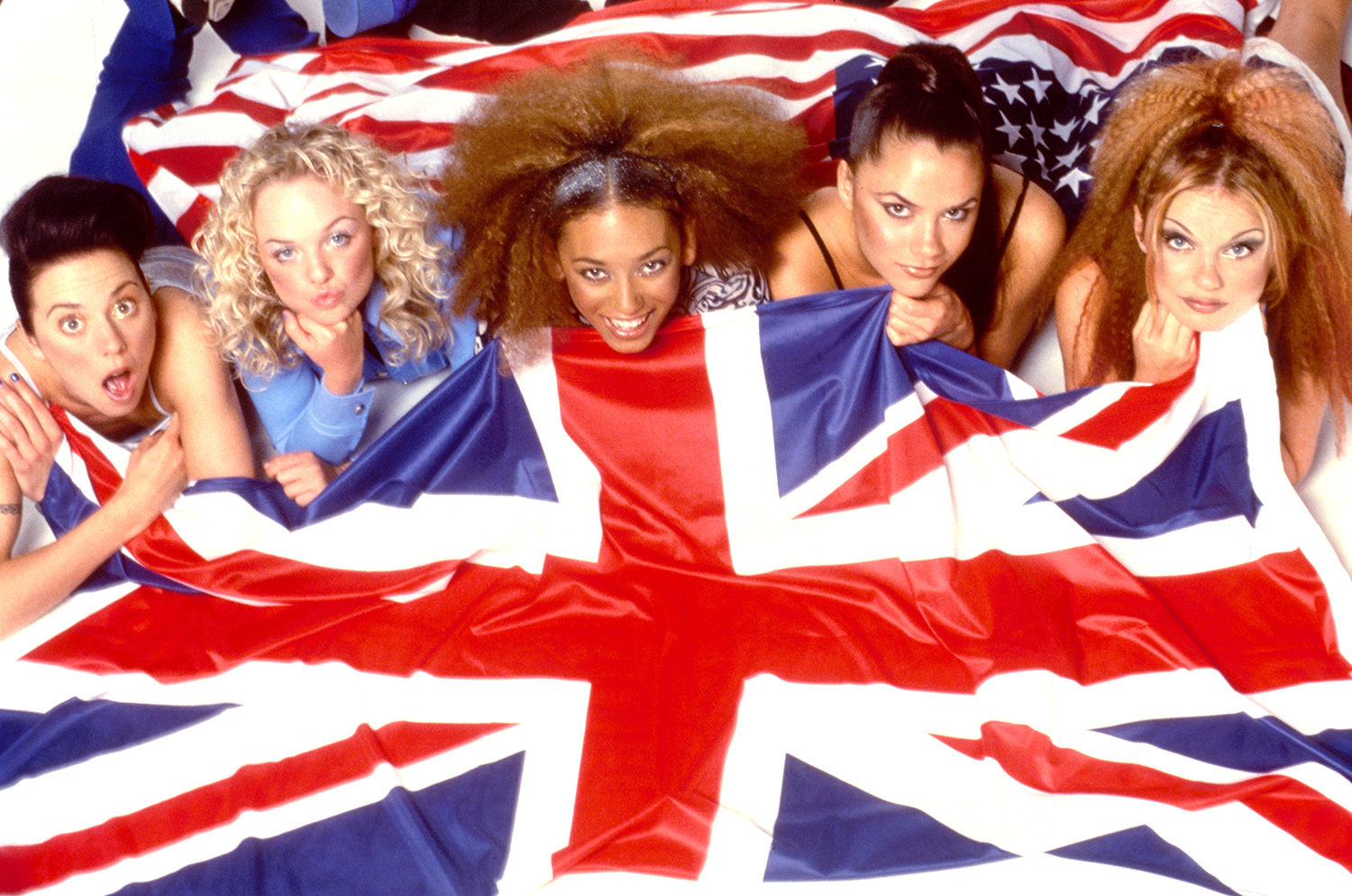 Spice Girls and British Flag