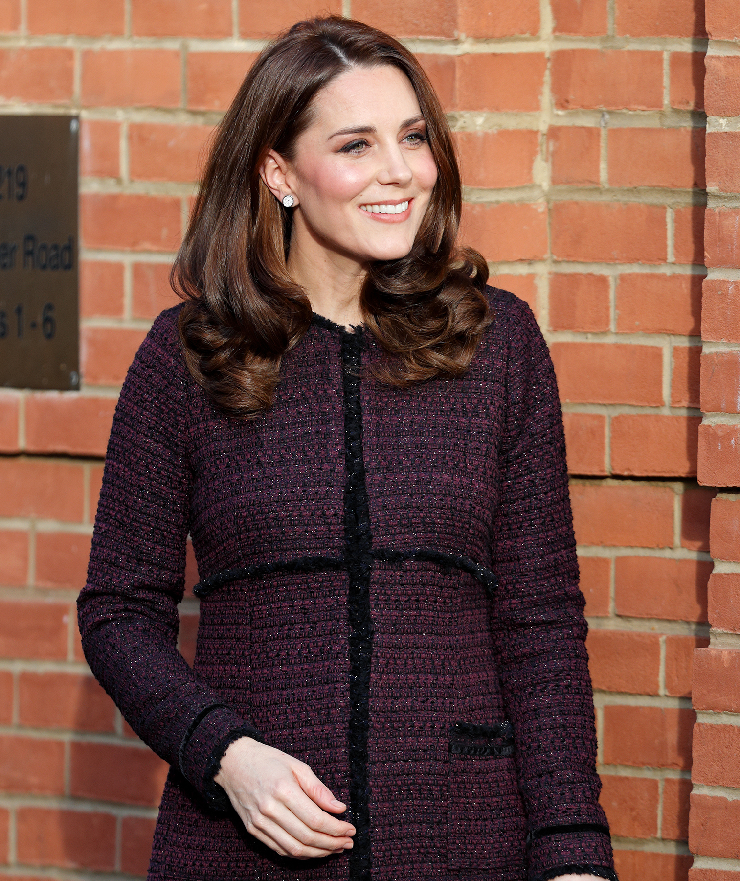 Kate Middleton brick background