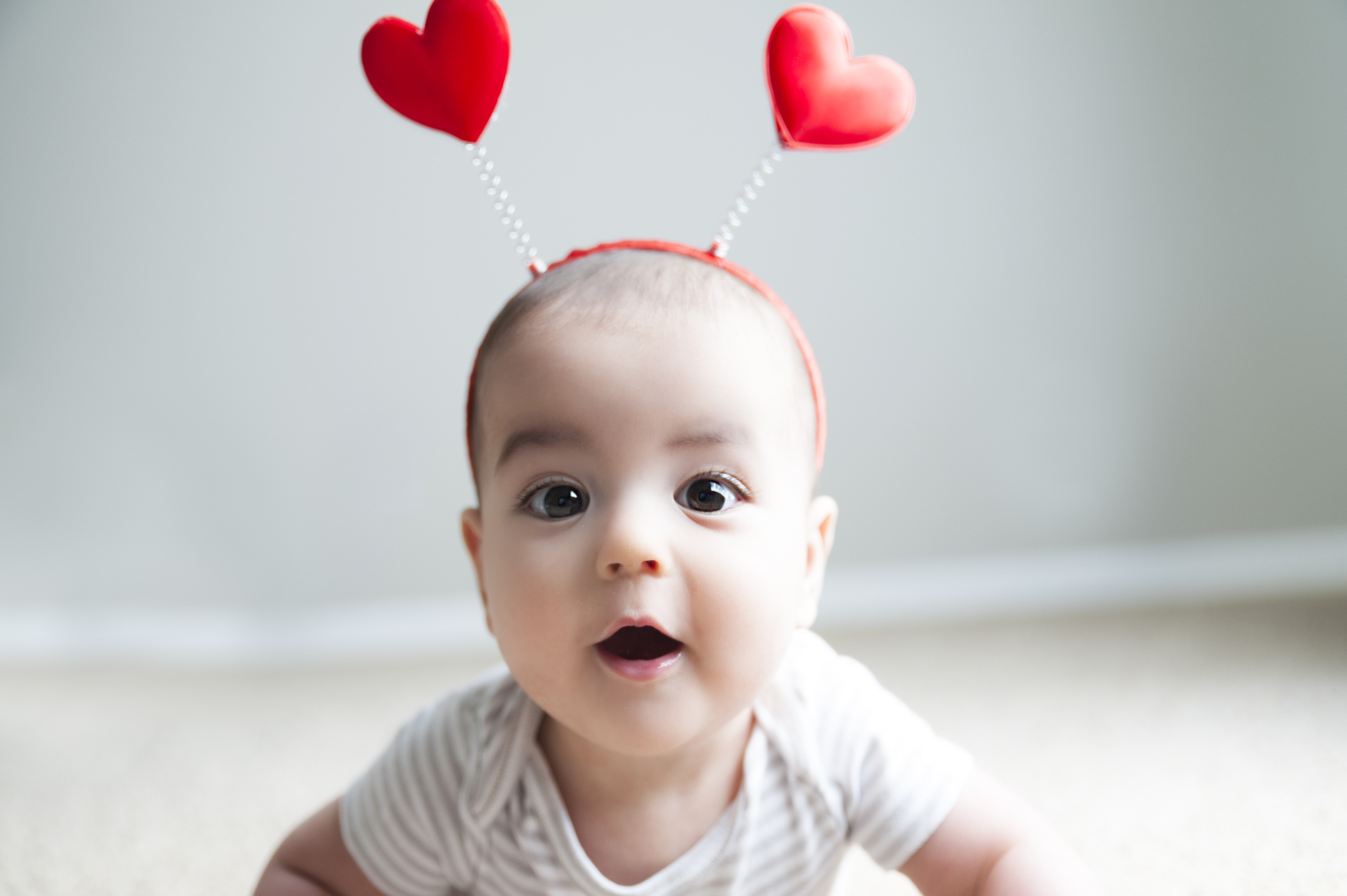 Baby dressed as a love bug