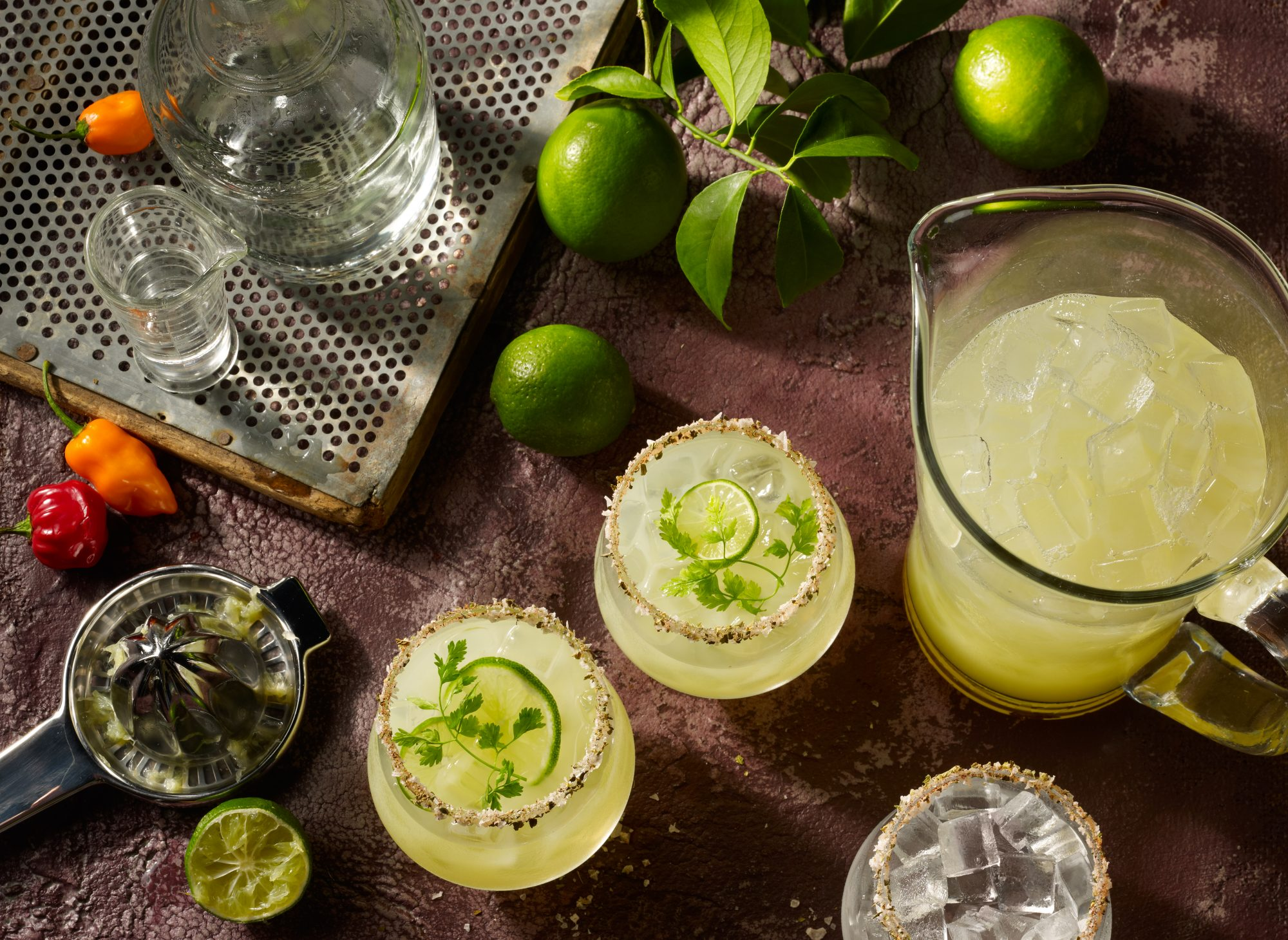 margaritas-with-lime