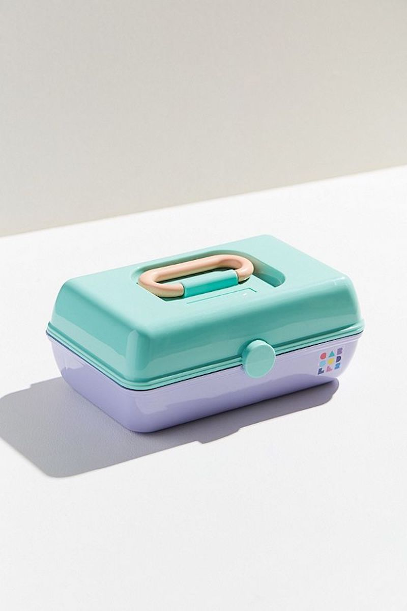 Urban Outfitters Caboodles Case in mint and lavender