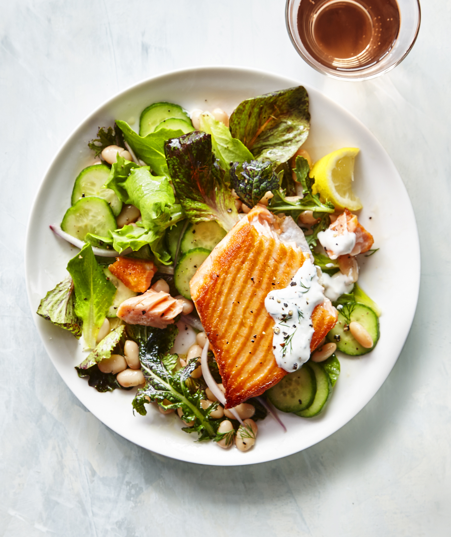 Salmon Salad With Herbed Yogurt