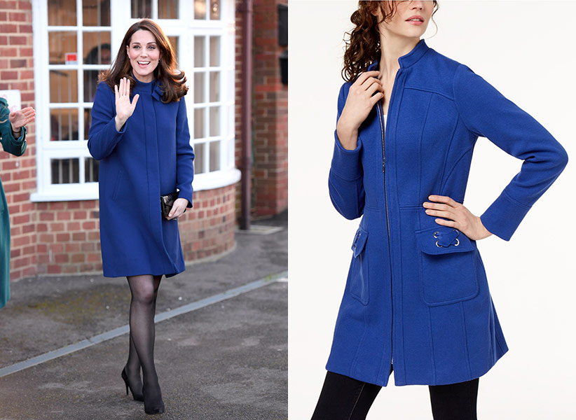 kate middleton blue coat