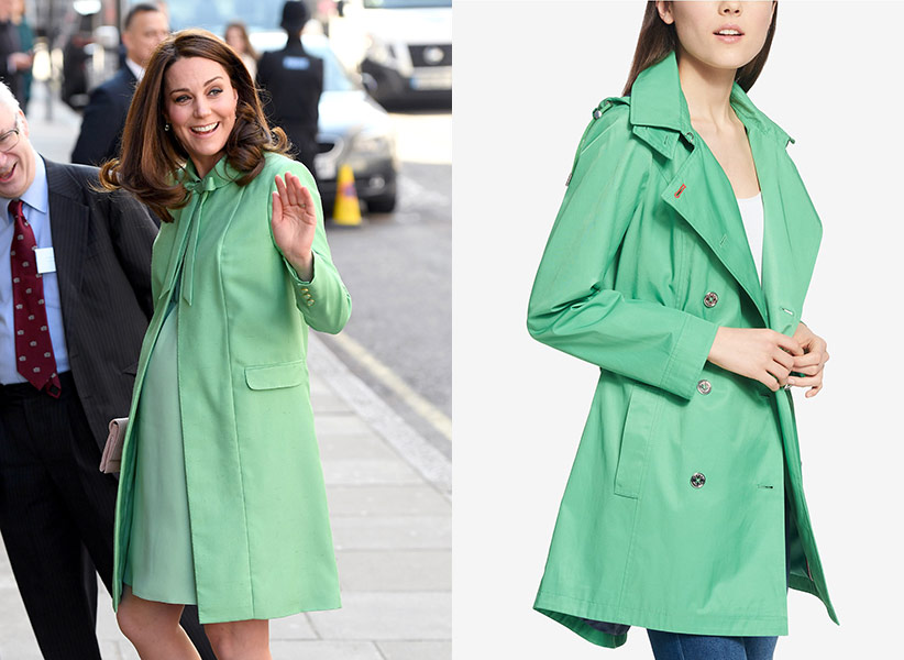 kate middleton bright green coat