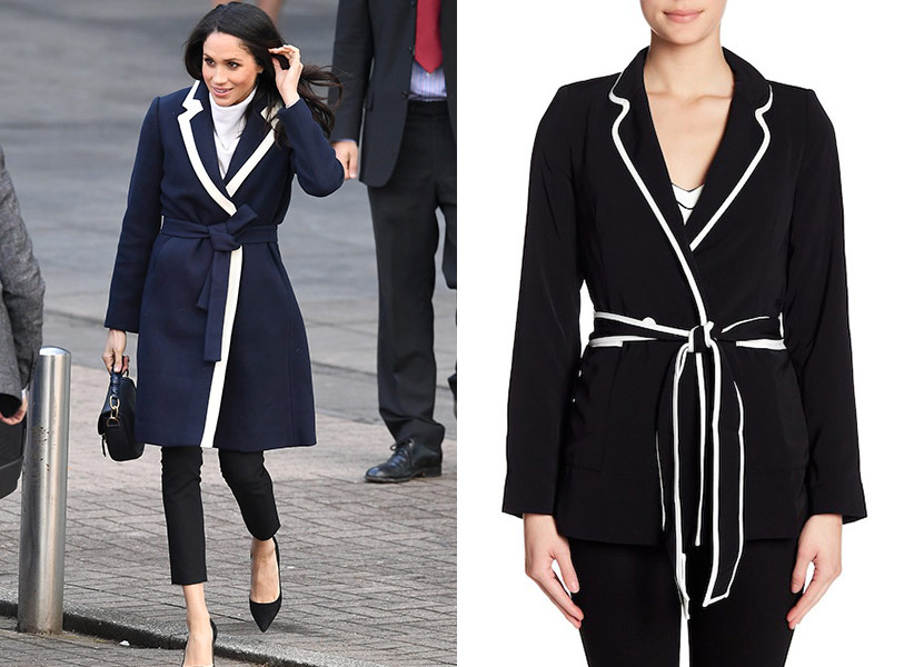 meghan markle navy coat
