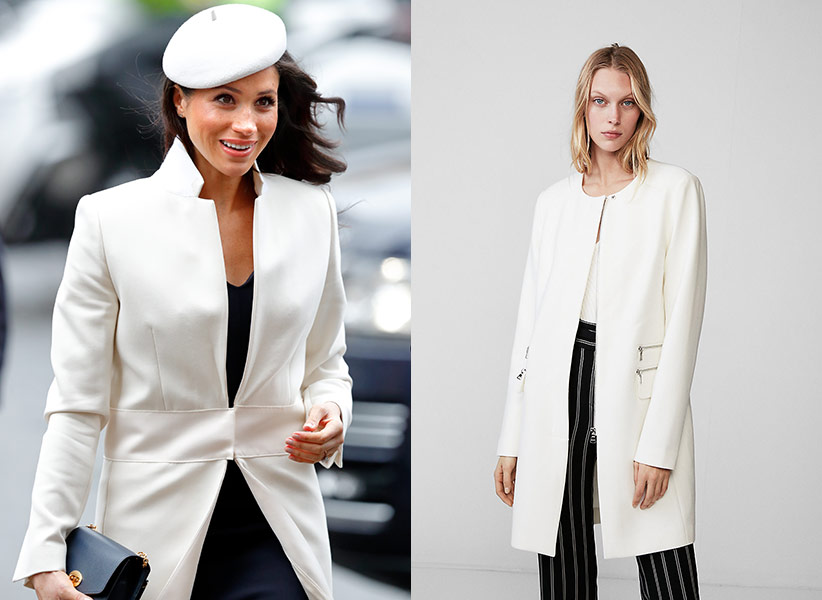 meghan markle white coat