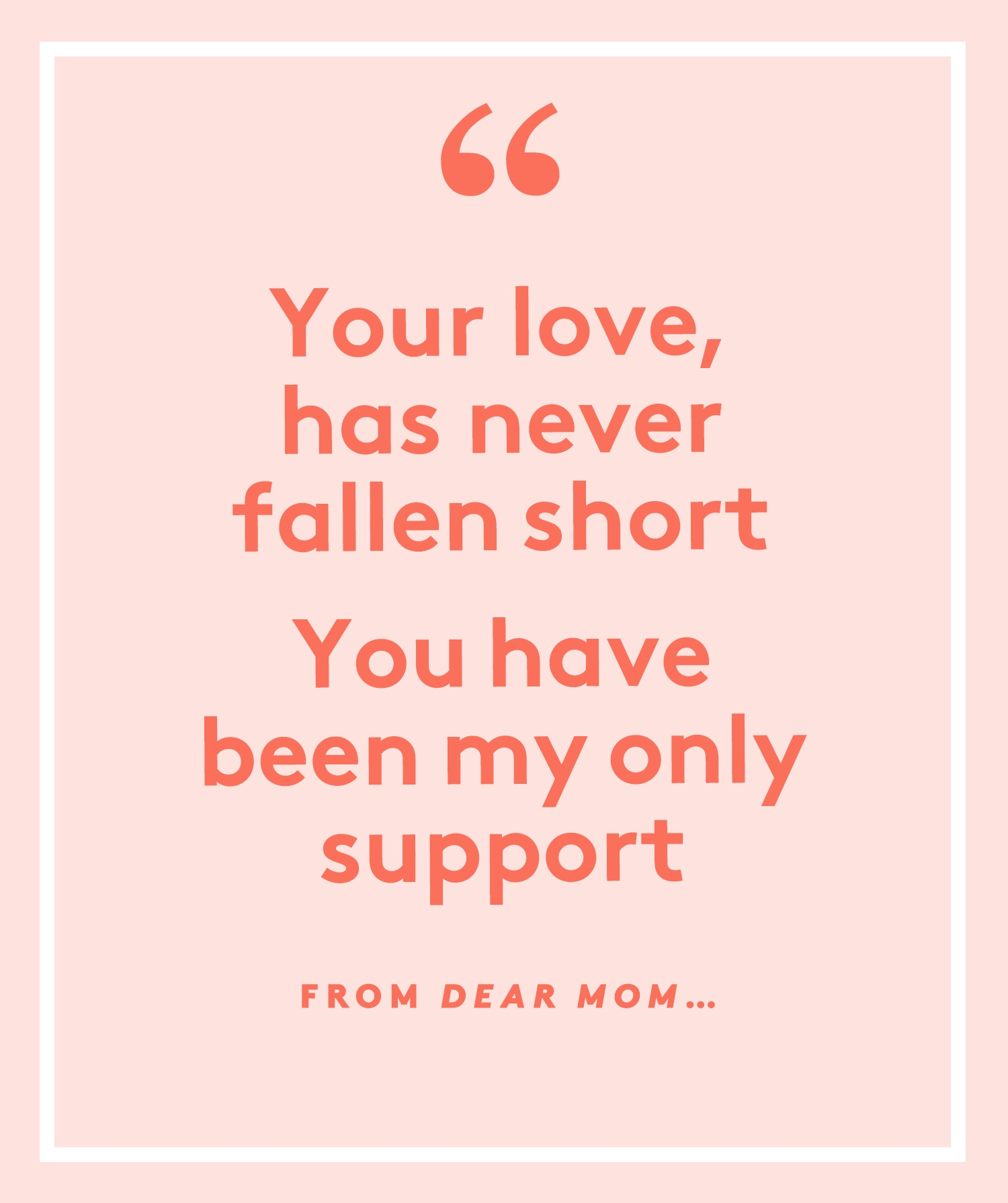Dear Mom Poem
