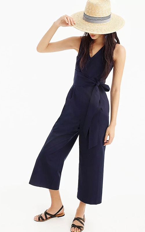 c279987f508af Available in navy (for minimalists) and a surprisingly-wearable bright  coral (if you prefer to go bold), this stunning jumpsuit looks great on  practically ...