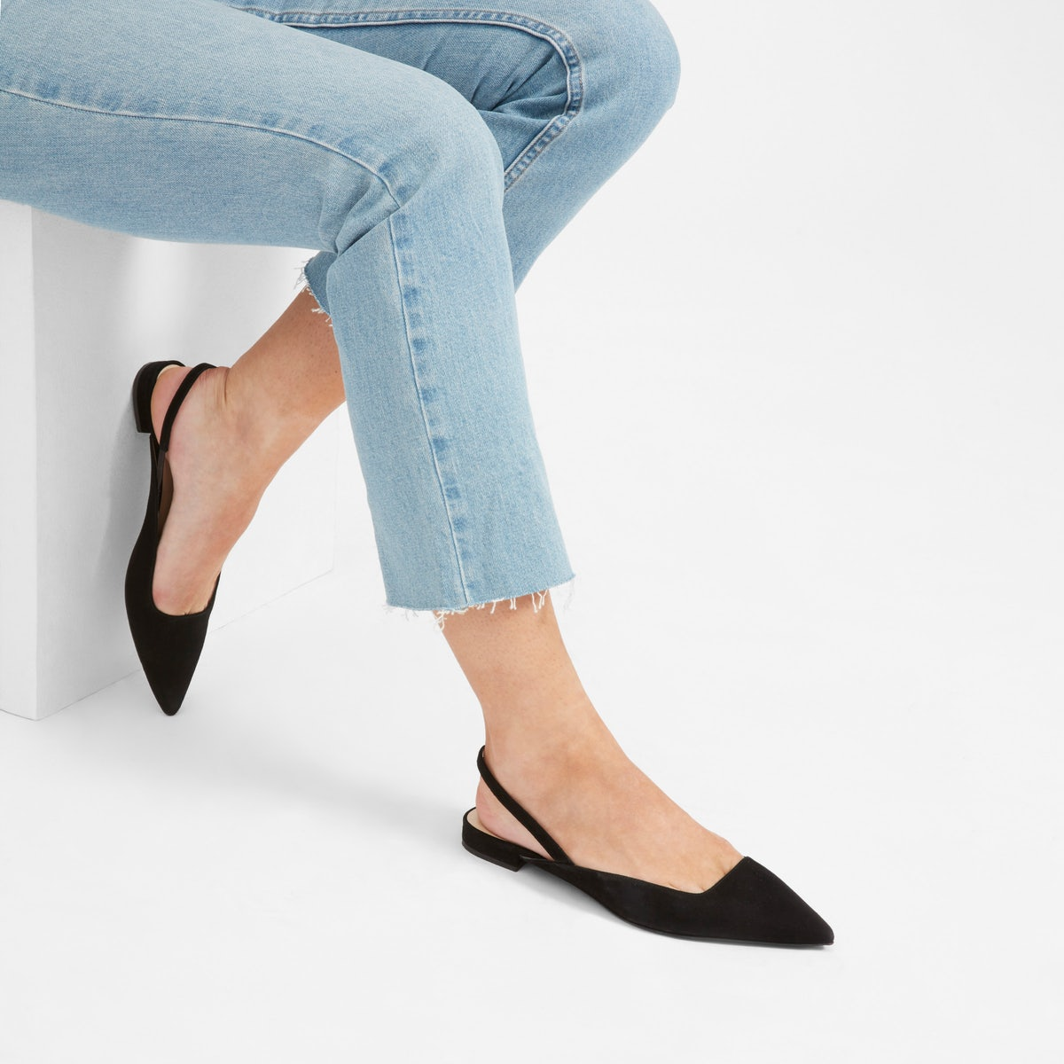 Black Everlane Slingback Sandals
