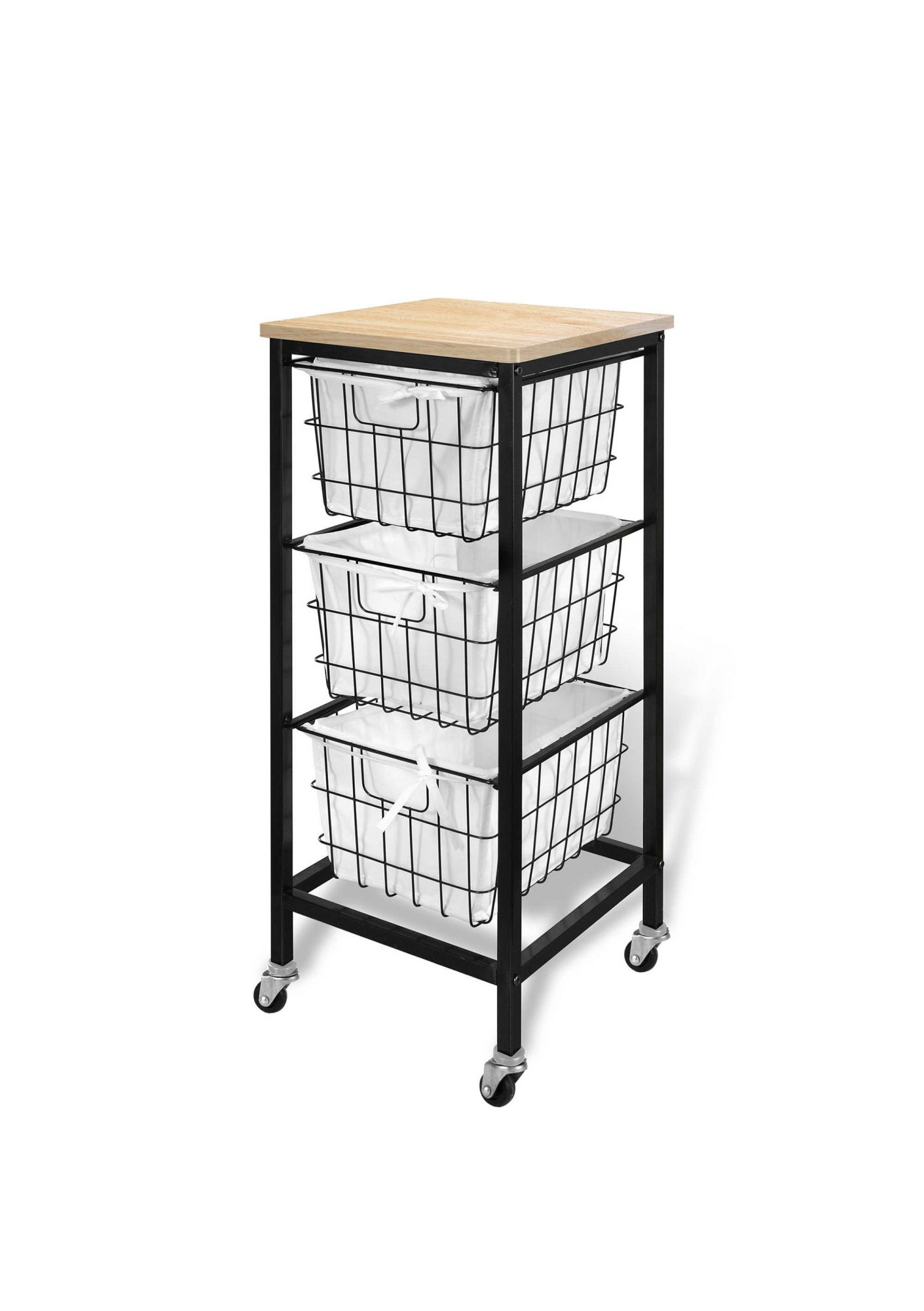 Bintopia 3-Drawer Wire Storage Cart