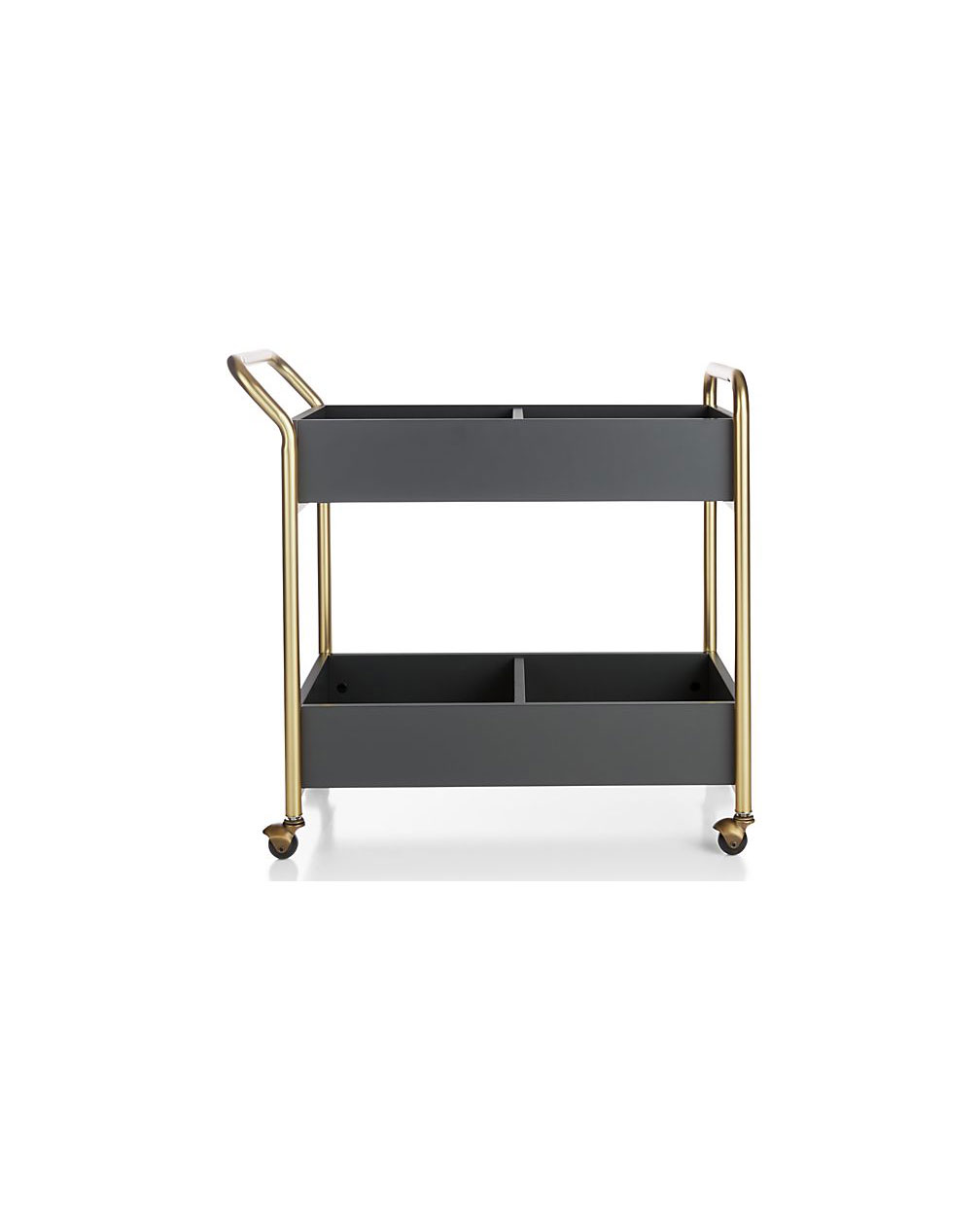 Less Than 200 Brooks Charcoal Gold Rolling Cart