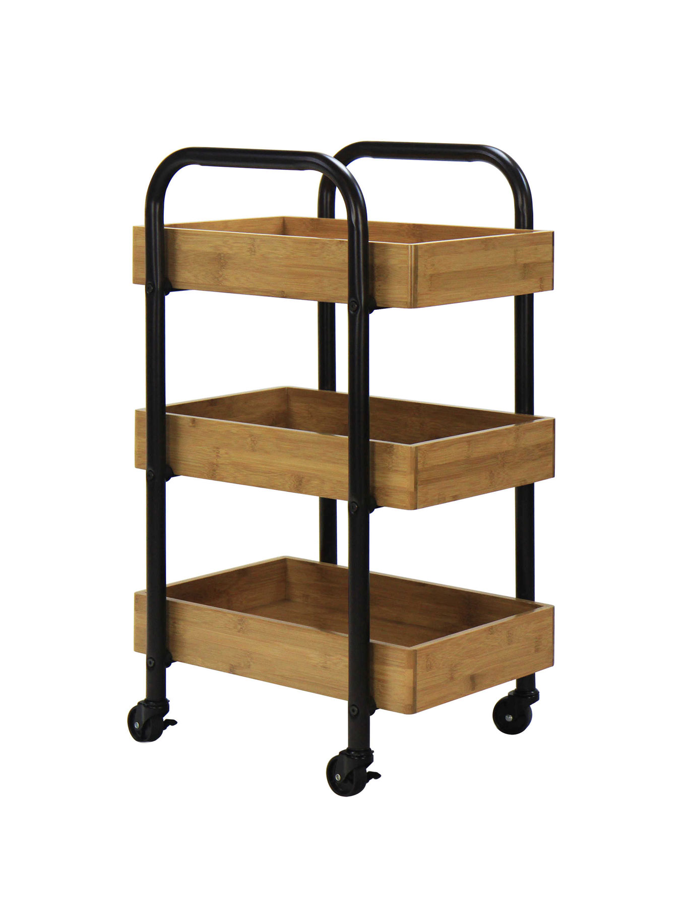 Less Than 200 Oceanstar 3 Tier Storage Cart In Espresso