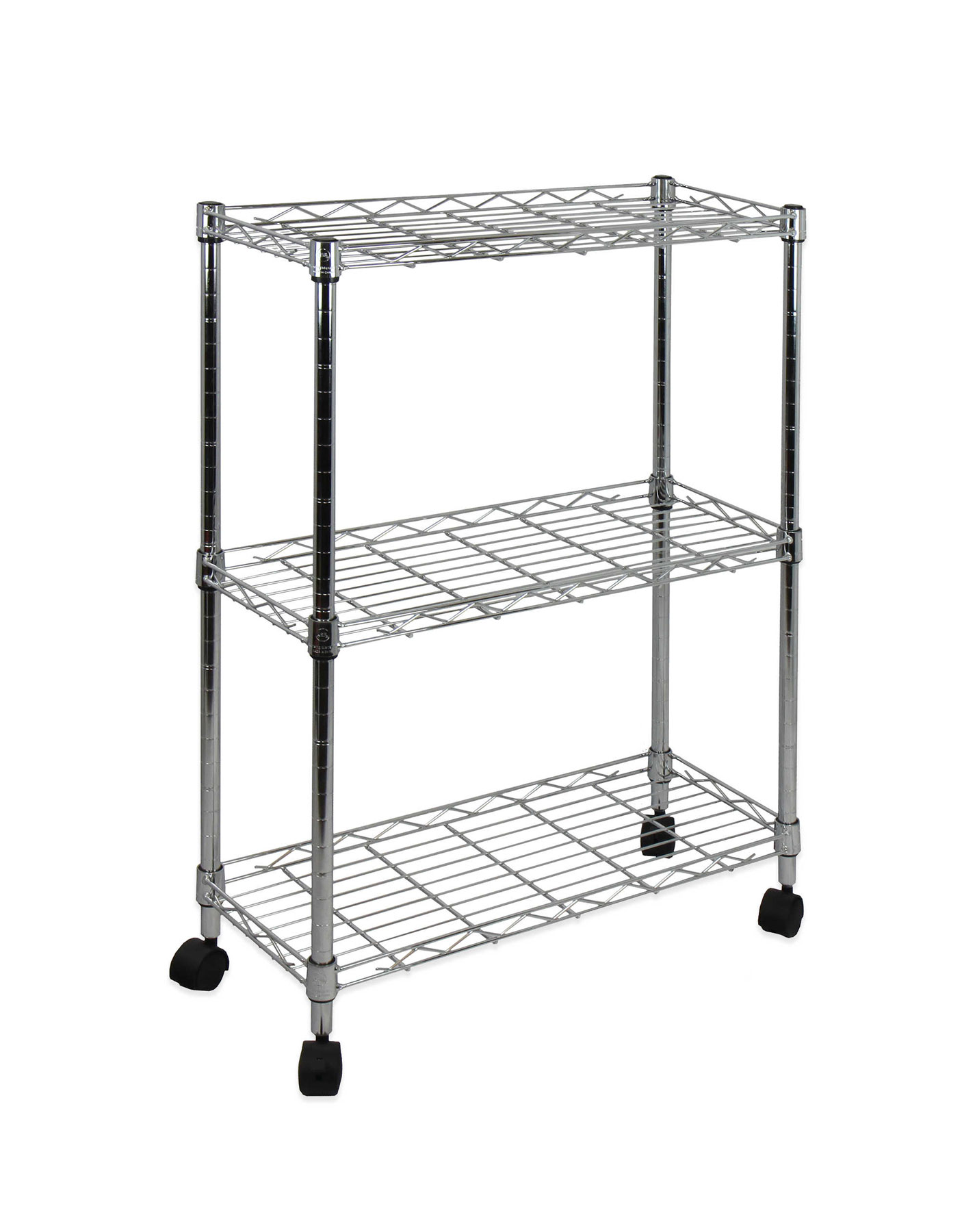 Less Than $30: Oceanstar 3 Tier Shelving All Purpose Utility Cart In Chrome