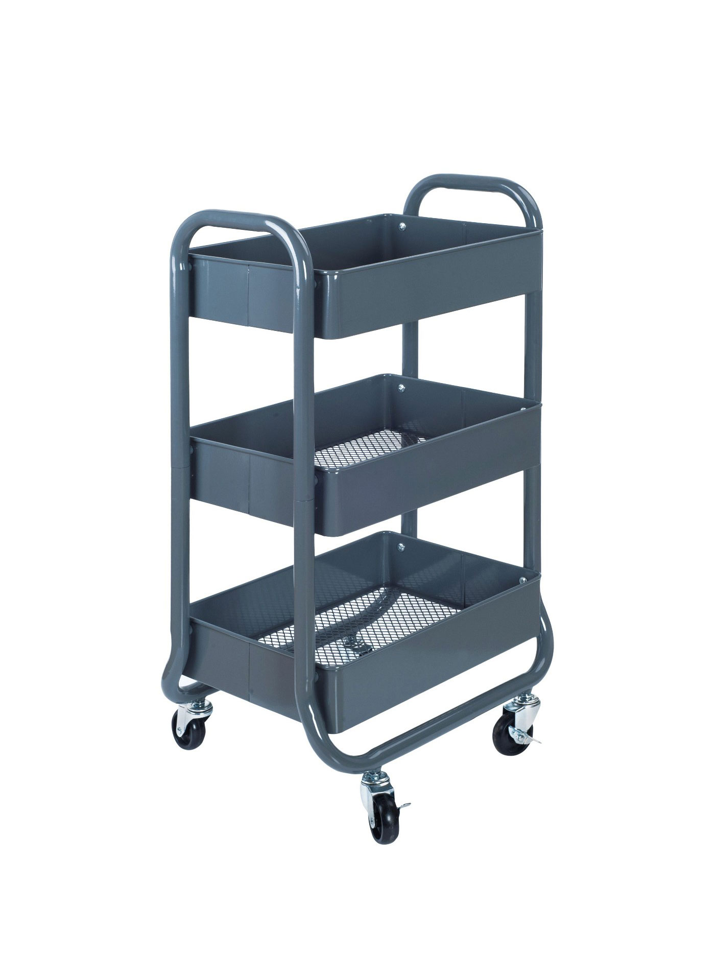 Less Than 30 Room Essentials 3 Tier Rolling Cart In Gray