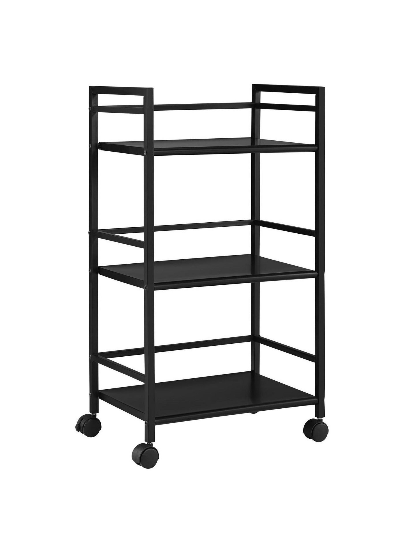 Less Than 100 Room Joy Trinity 3 Shelf Metal Rolling Utility Cart