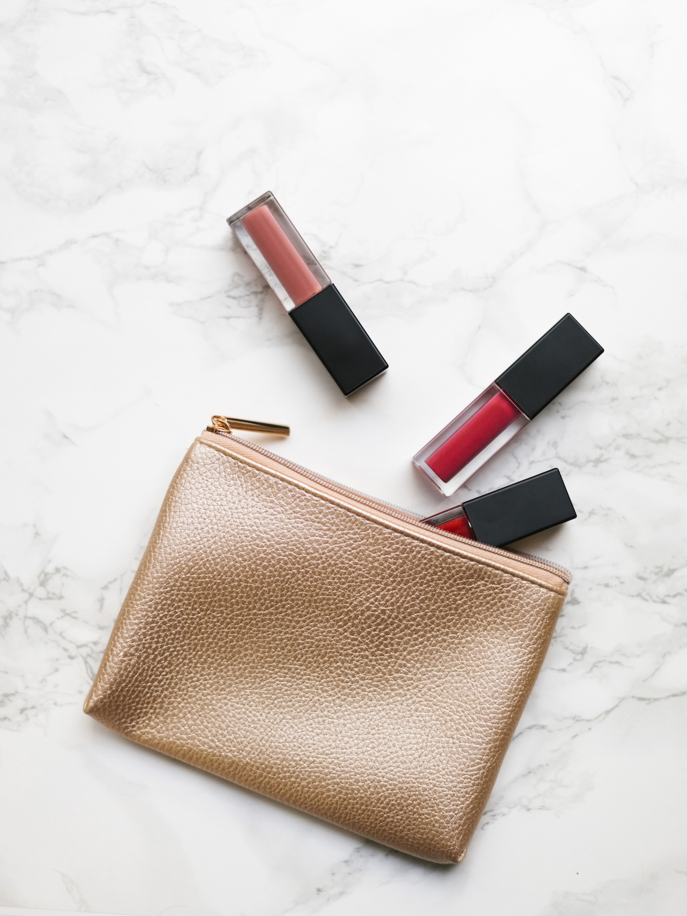 Makeup Bag with Lipsticks