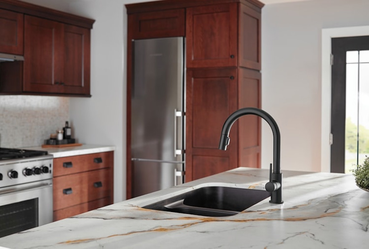 Delta Faucet Black Kitchen Sink
