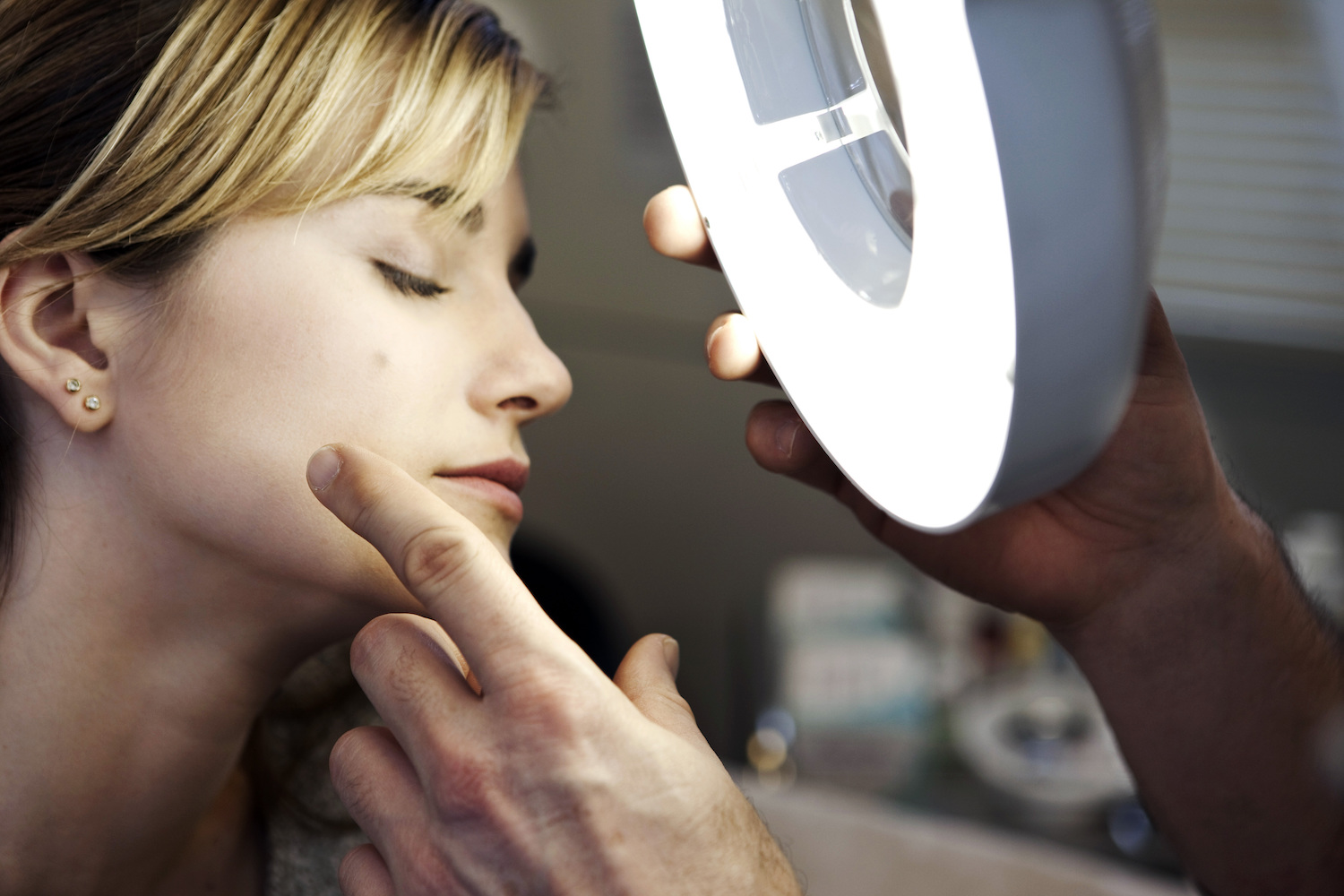 A Young Woman at the Dermatologist