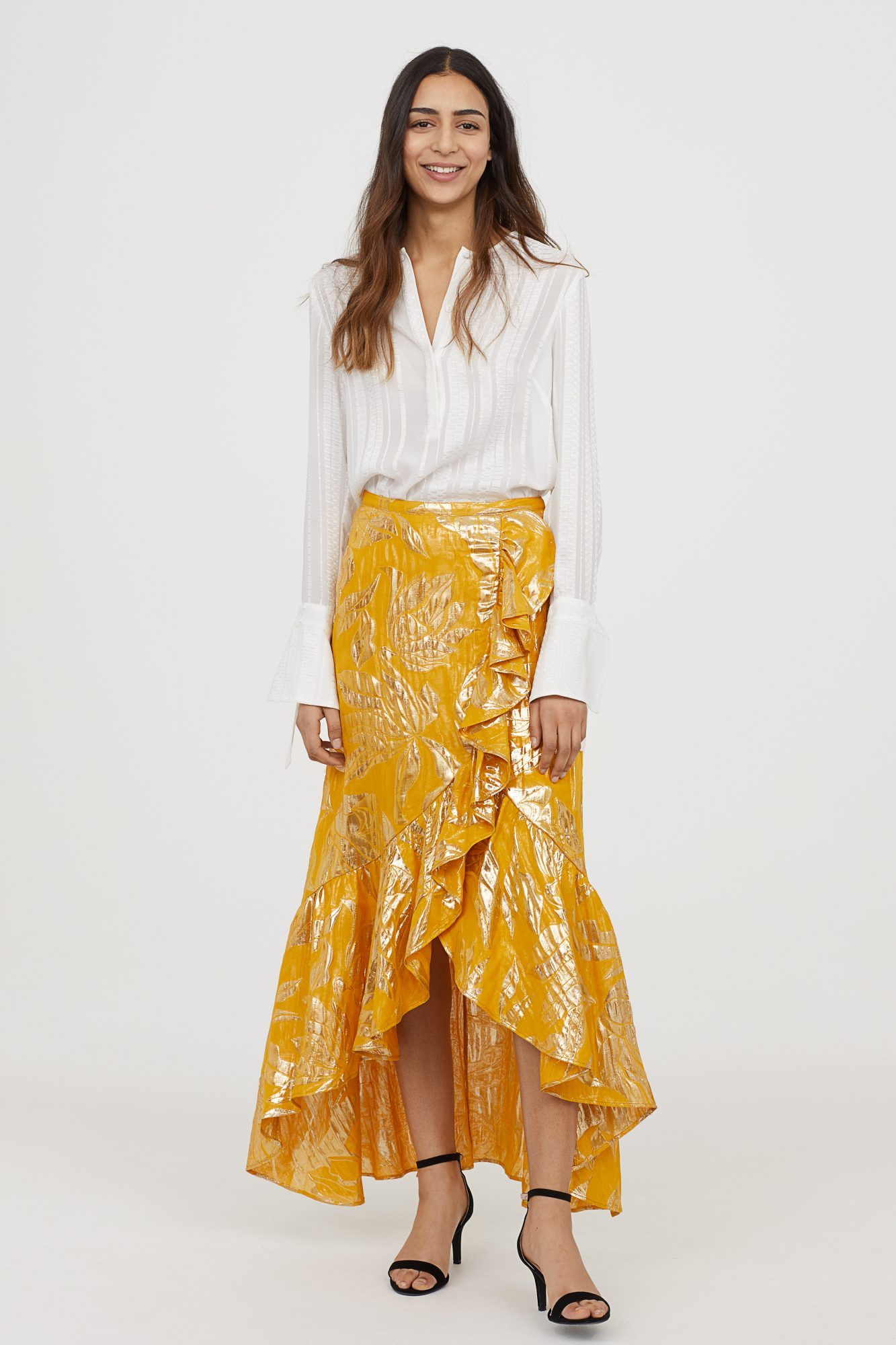 H&M Yellow Wrap Skirt