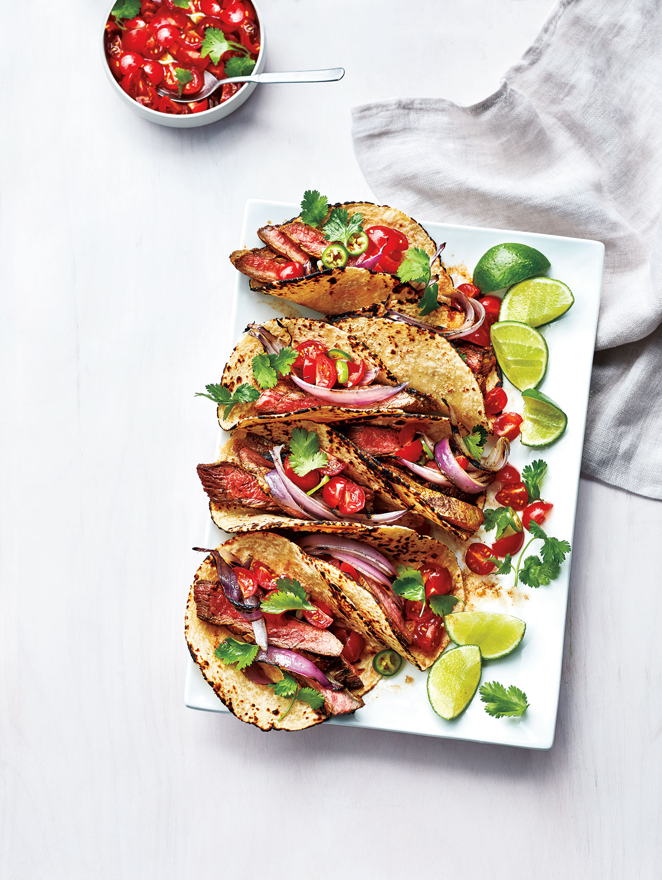 Smoky Flank Steak Tacos