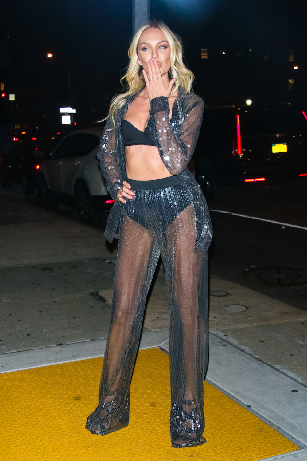 Candice Swanepoel in New York City After the Victoria's Secret Fashion Show
