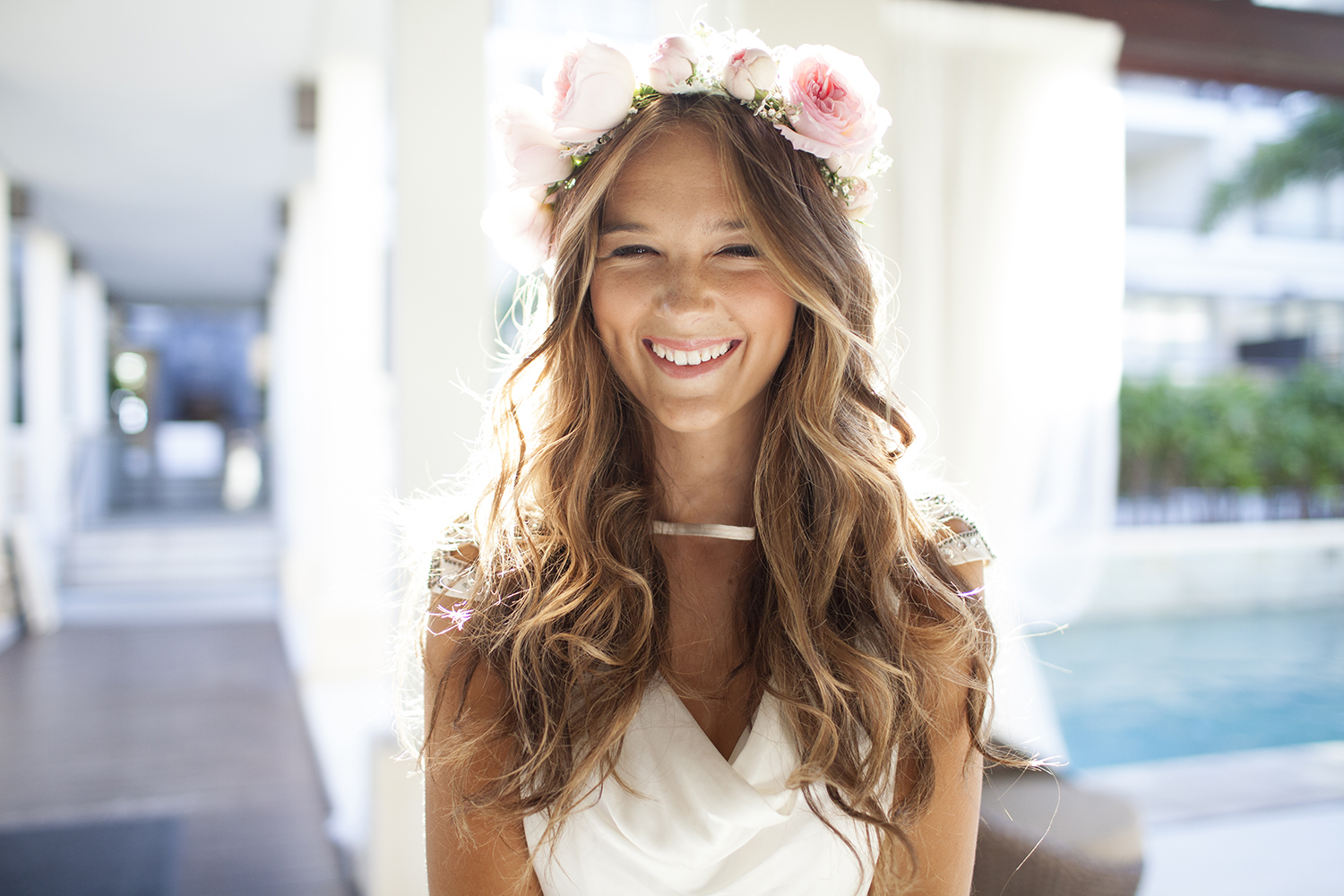 The biggest mistakes couples make when planning a summer wedding woman with flower crown on her head izmirmasajfo