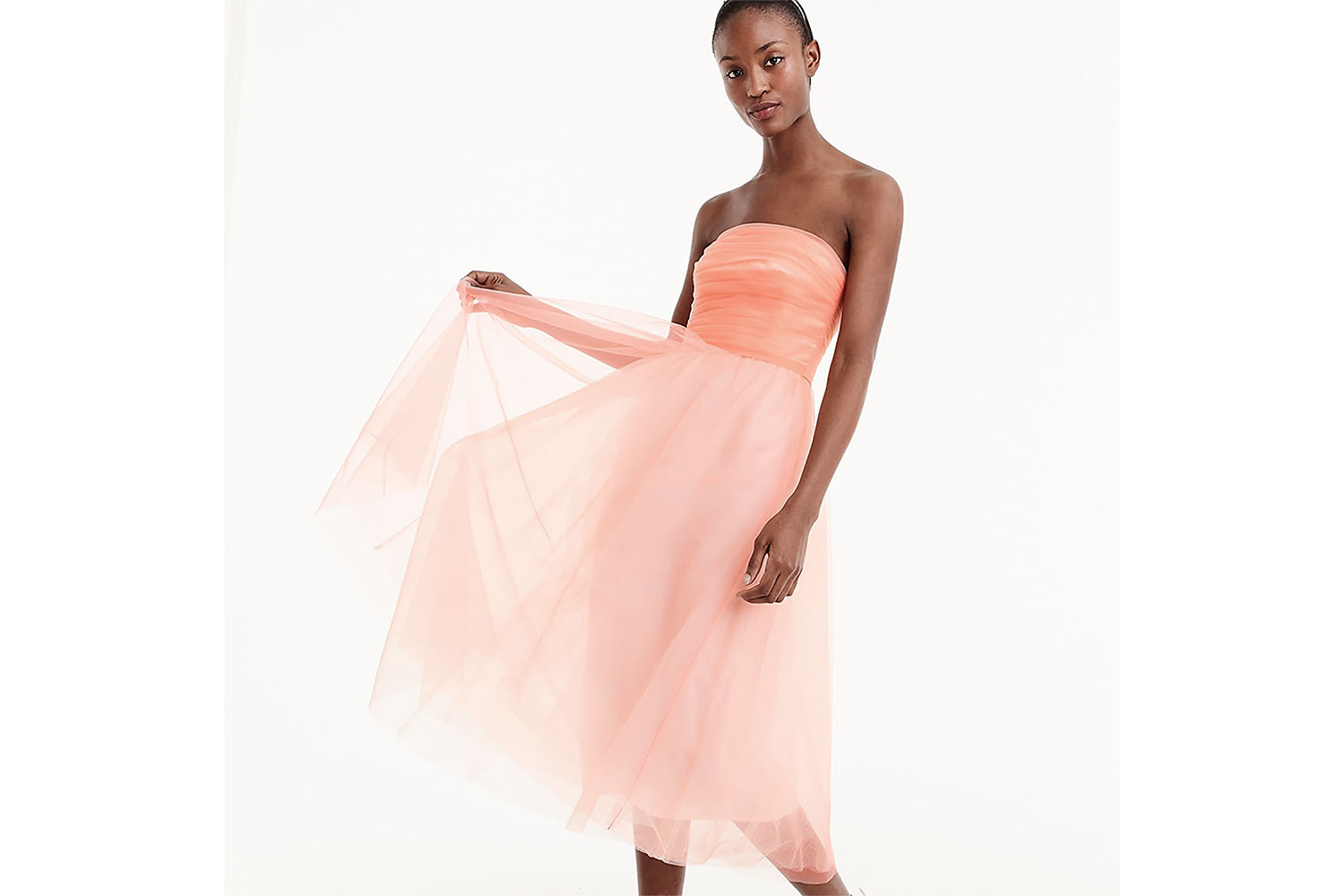J. Crew Tulle Pleated Dress