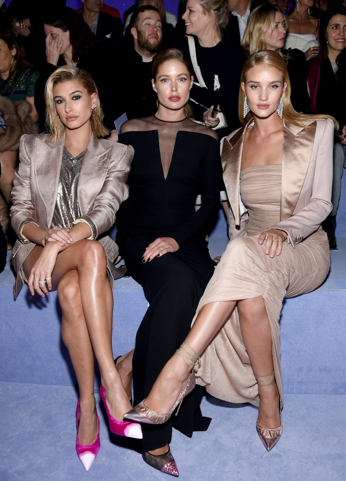 Hailey Baldwin, Doutzen Kroes, and Rosie Huntington-Whiteley Blonde Hair Colors