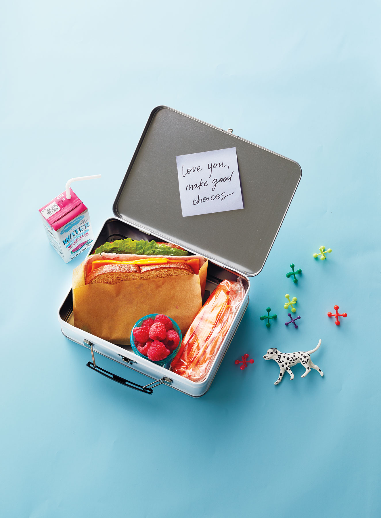 """Love You, Make Good Choices"" Note in Lunchbox"