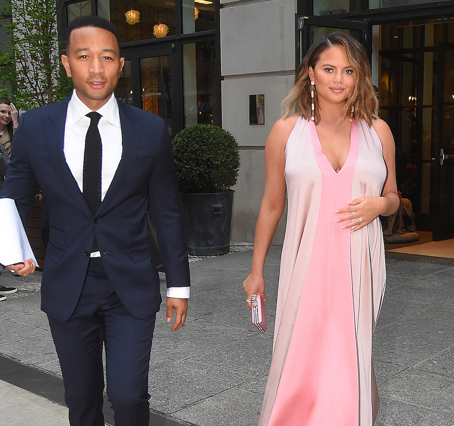 John Legend and Chrissy Teigen Right Before New Baby Miles Was Born on May 17