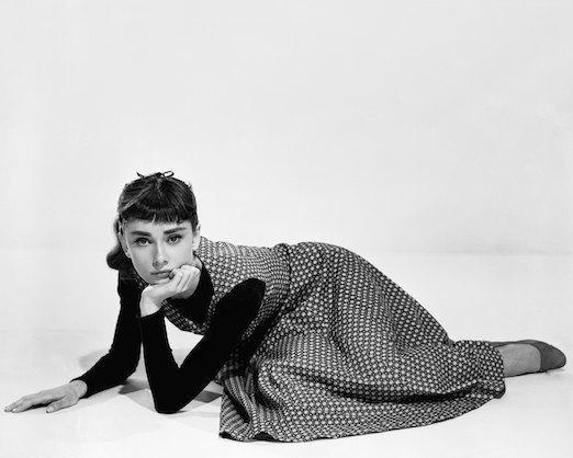Short Hair with Bangs on Audrey Hepburn