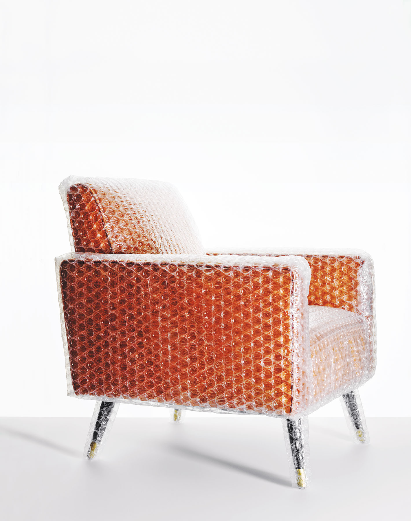 Bubble-wrapped armchair
