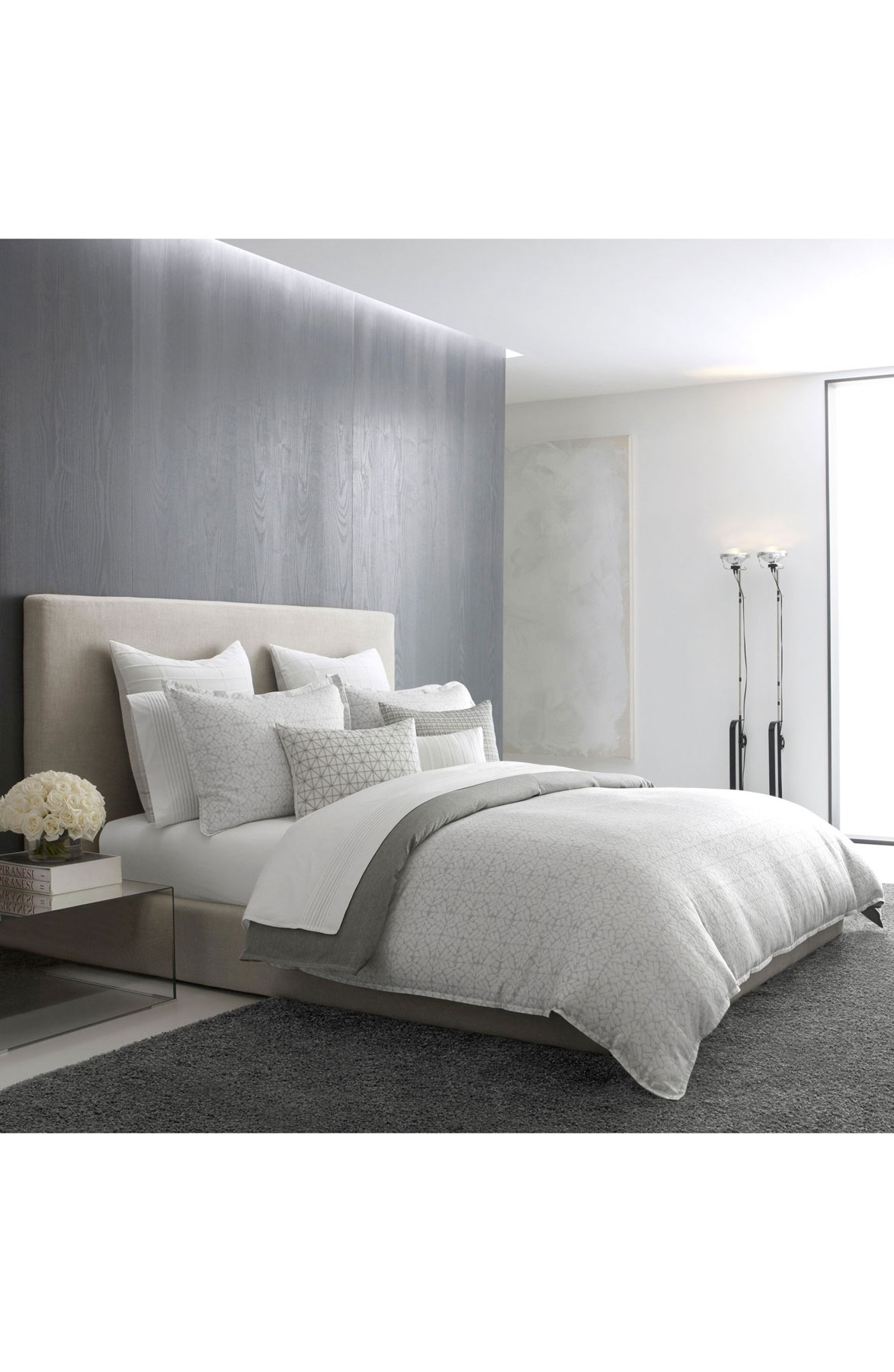 Vera Wang Mirrored Square Duvet Cover