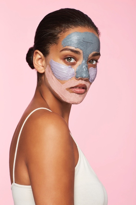 Charcoal Face Mask Used With Other Clay Face Masks