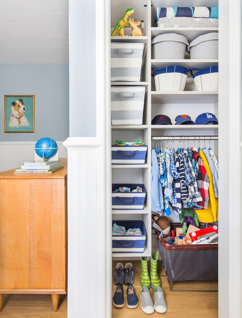 View of Closet for Boy