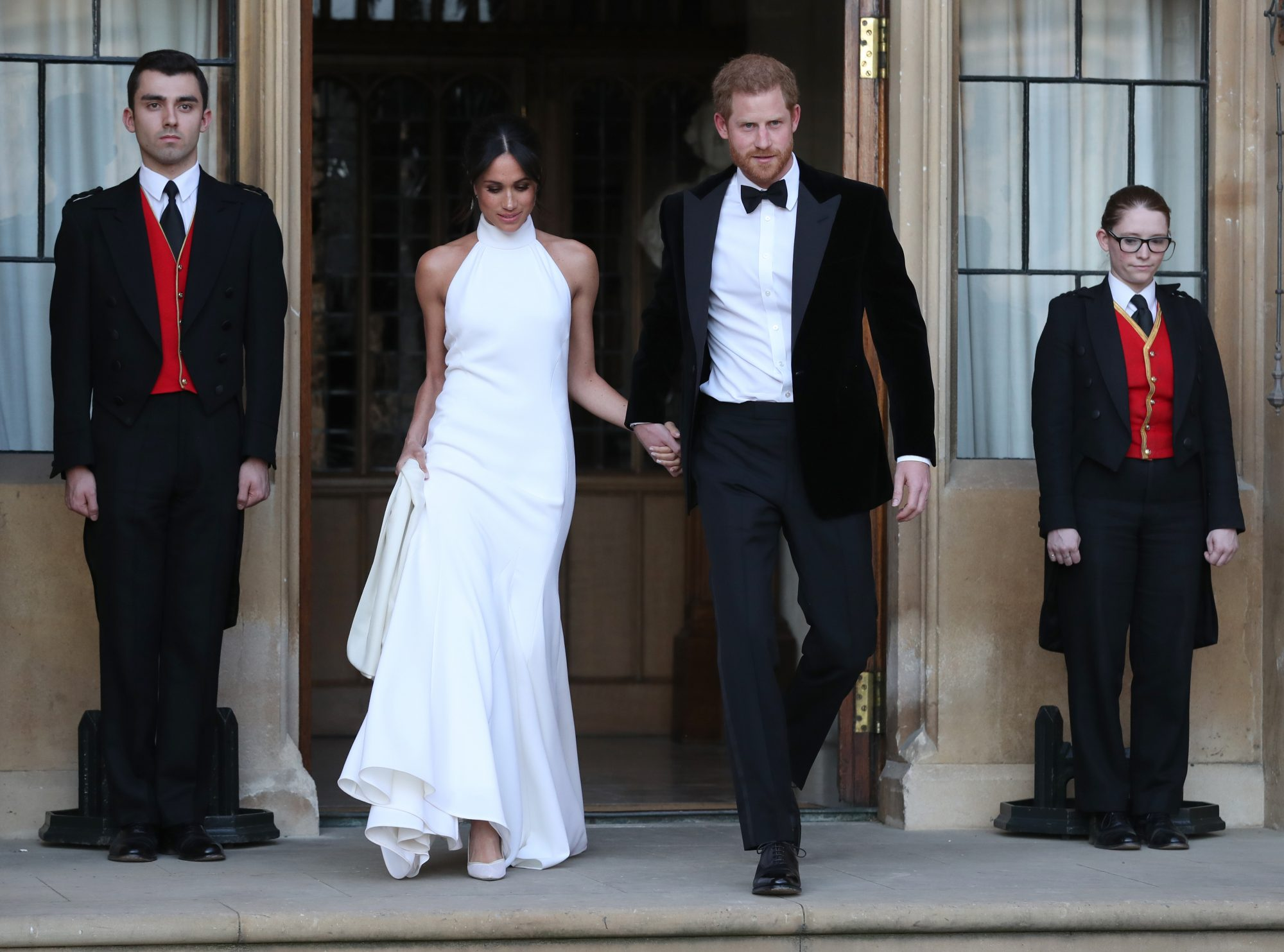 All About Meghan Markle's Sexy Second Wedding Dress for the Evening Reception